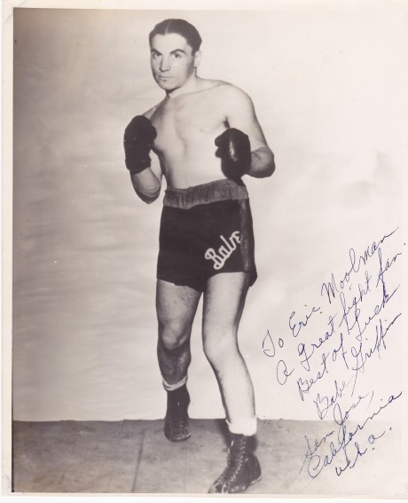 BABE GRIFFIN BOXER 1926 TO 1934 WORLD HALL OF FAME INDUCTEE