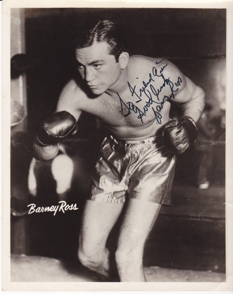 BARNEY ROSS INSCRIBED AUTOGRAPH 2