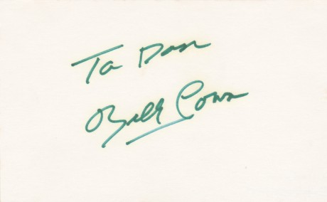 BILLY CONN CUT SIGNATURE