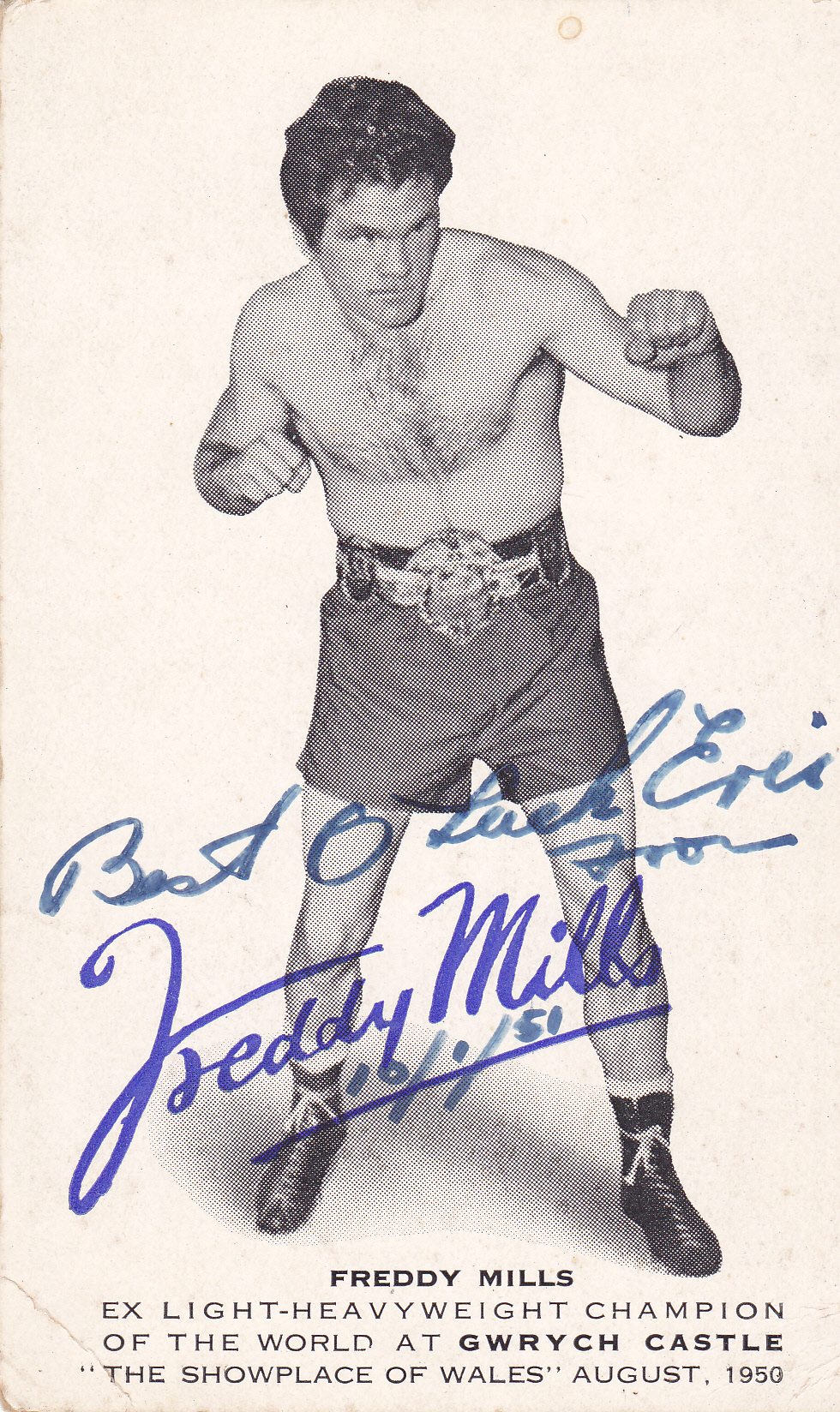 Freddie Mills Great New Boxing Poster