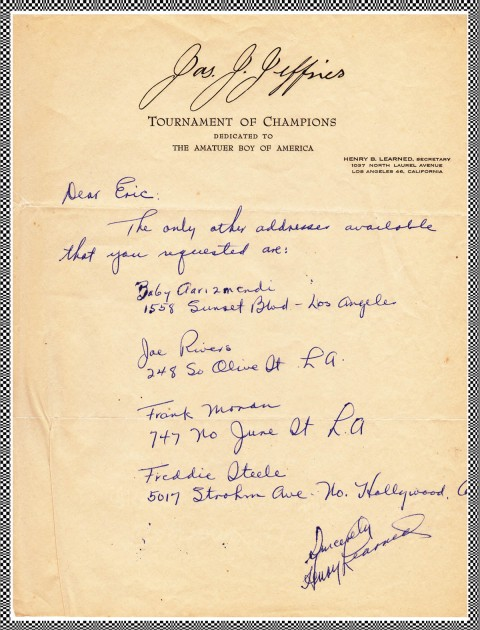 James J Jefferies Office Letter - African Ring