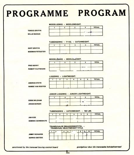 14. Gerrie Coetzee vs Jimmy Richards 1976 undercard