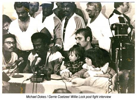 2. Michael Dokes, Gerrie Coetzee, Willie Lock post fight interview