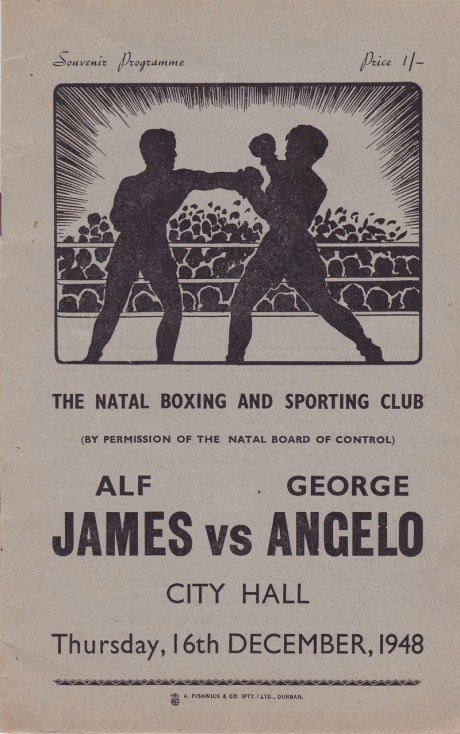 ALF JAMES VS GEORGE ANGELO 1948