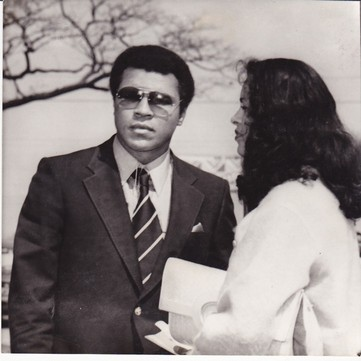 ALI AND HIS WIFE VERONICA IN BANGLADESH WIRE PHOTO