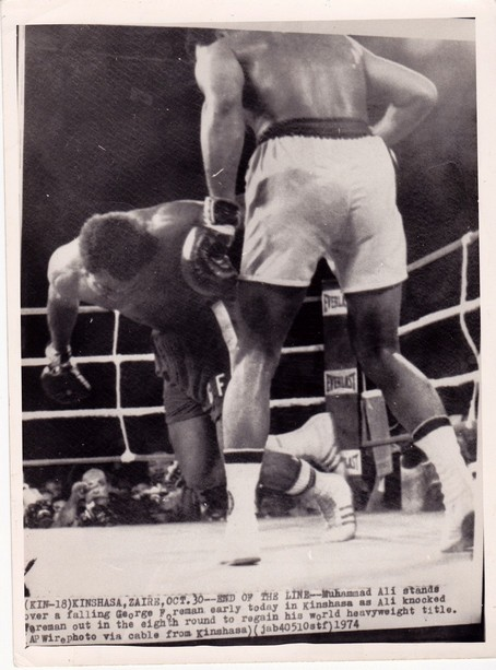 ALI KO GEORGE FOREMAN WIRE PHOTO