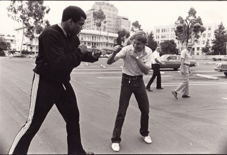 ALI SQUARES UP A REPORTER