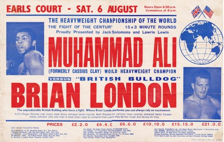 ALI VS BRIAN LONDON ON SITE POSTER