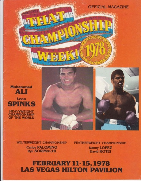 ALI VS SPINKS ON OFFICIAL MAGAZINE