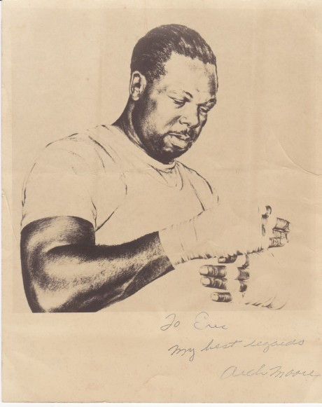 ARCHIE MOORE INSCRIBED SIGNATURE