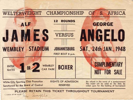 Alf James Vs Goerge Angelo