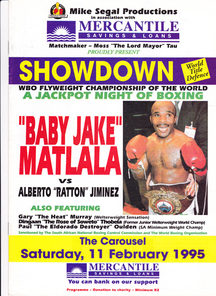 BABY JAKE VS ALBERTO JIMINEZ 11-2-1995