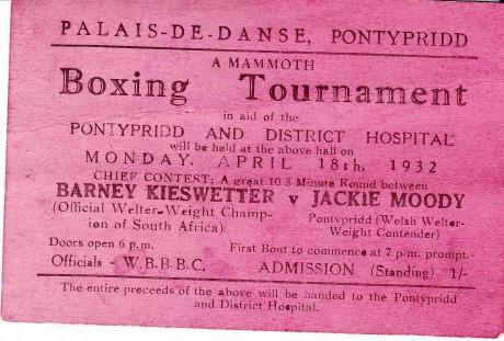 BARNEY KIESWETTER V JACKIE MOODY APRIL 1932