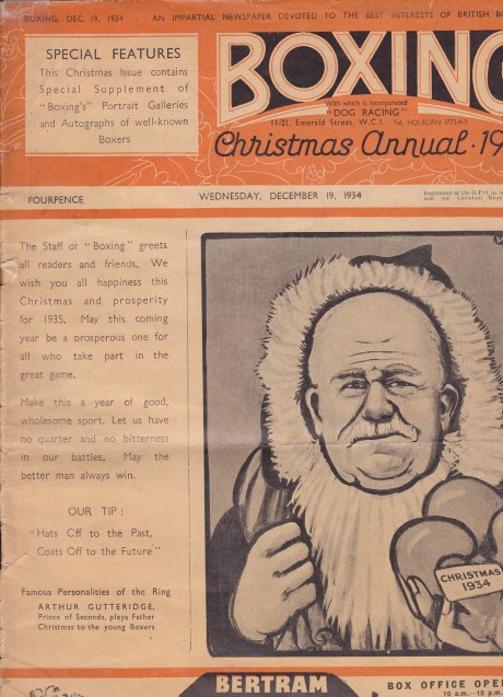 BOXING 1934 CHRISTMAS ANNUAL