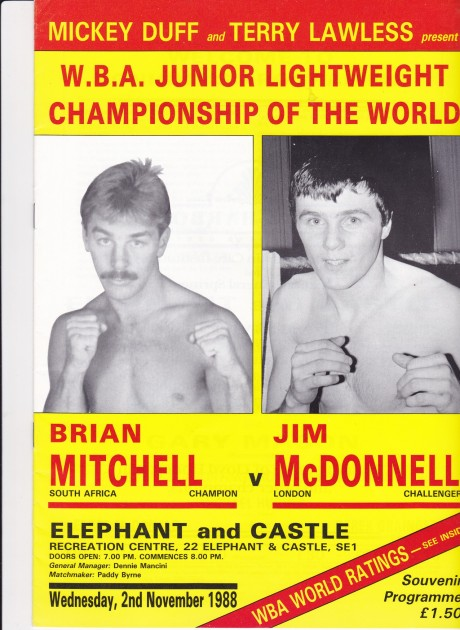 BRIAN MITCHELL VS JIM McDONELL