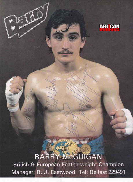 Barry McGuigan British Champion