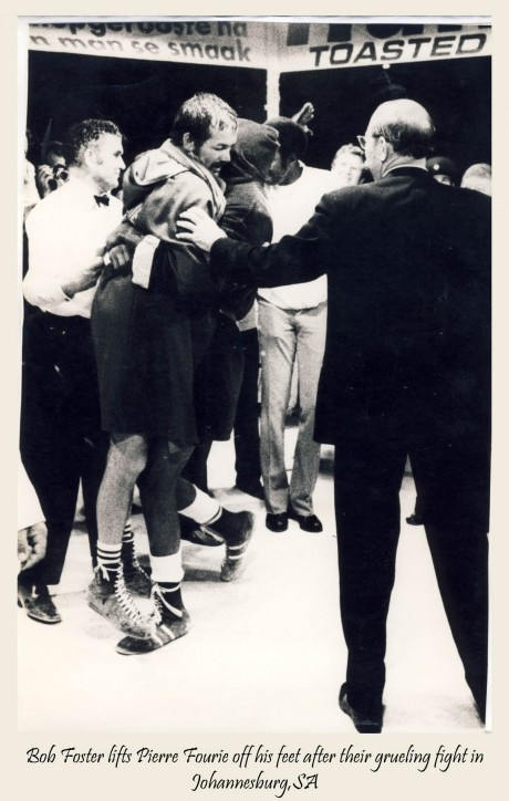 Bob Foster lifts Pierre Fourie