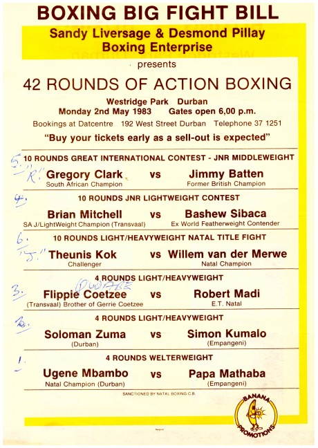 Brian Mitchell vs Bashew Sabaca Bout card