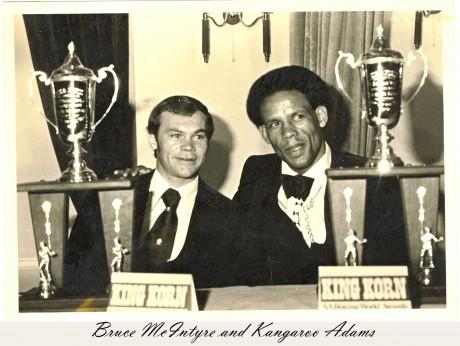 Bruce McIntyre and Kangaroo Adams