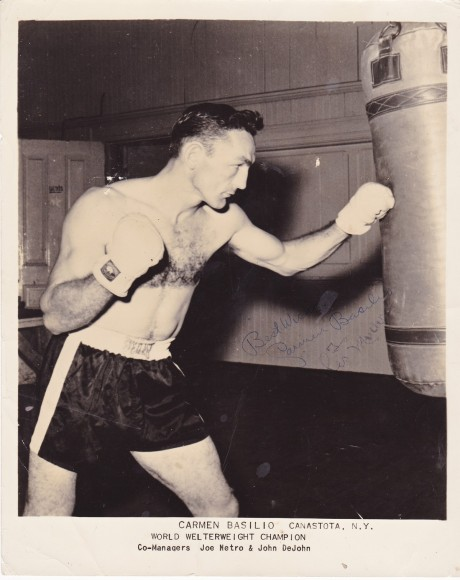 CARMEN BASILIO BEST WISHES TO LES MULLER