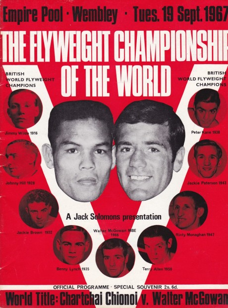 CHARTCHAI CHIONO VS WALTER McGOWAN 19 SEPTEMBER 1967