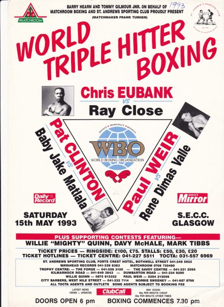 CHRIS EUBANK VS RAY CLOSE