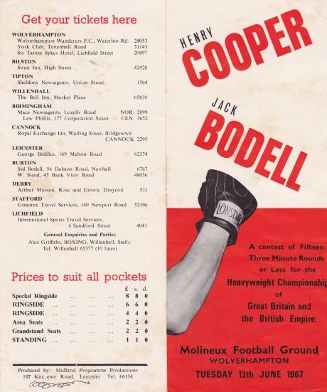 COOPER VS BODELL TICKET SALES OUTLETS