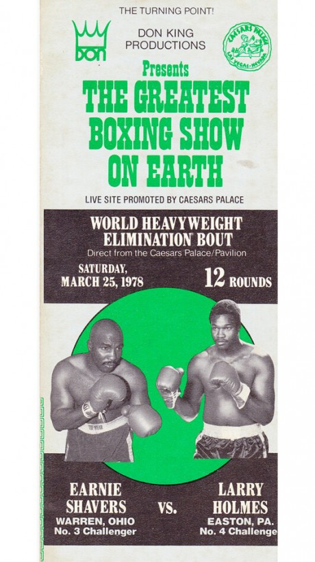 EARNIE-SHAVERS-V-LARRY-HOLMES-PROMOTIONAL-FOLD-UP