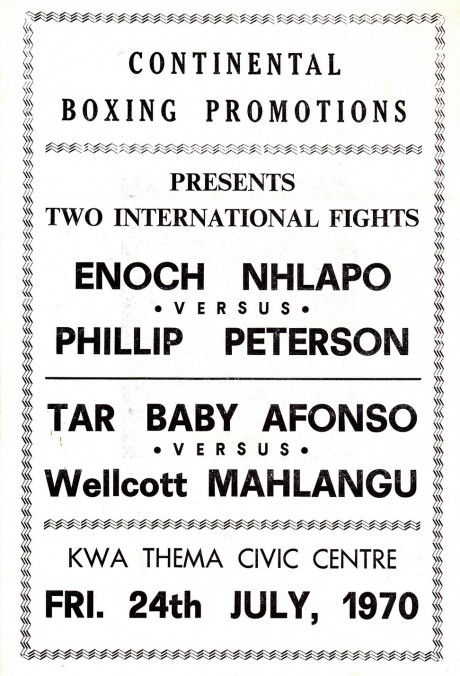 ENOCH NHLAPO VS PHILLIP PETERSON