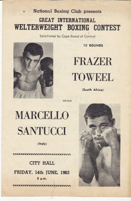 FRAZER TOWEEL   VS MARCELLO SANTUCCI