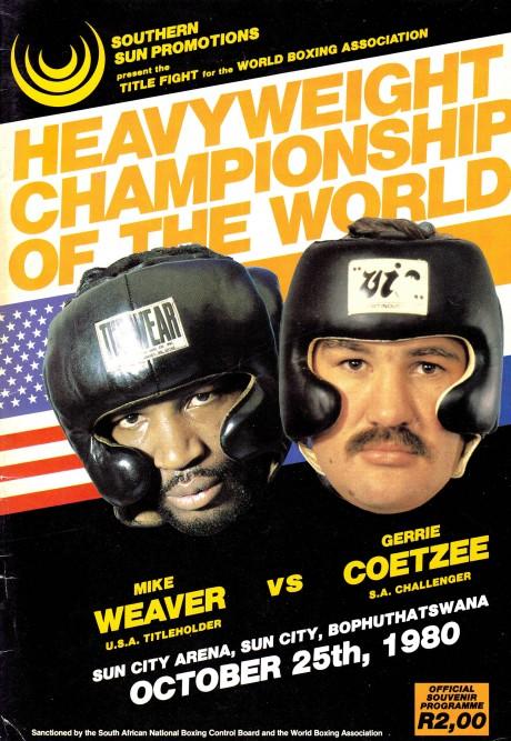 GERRIE COETZEE vs MIKE WEAVER 25-10-1980