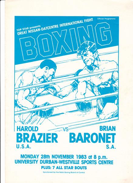 HAROLD BRAZIER VS BRIAN BARONET 28-11-1983