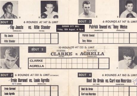 HERBIE CLARK VS MANNIE AGRELLA
