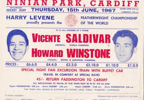 HOWARD WINSTONE VS VICENTE SALDIVAR POSTER