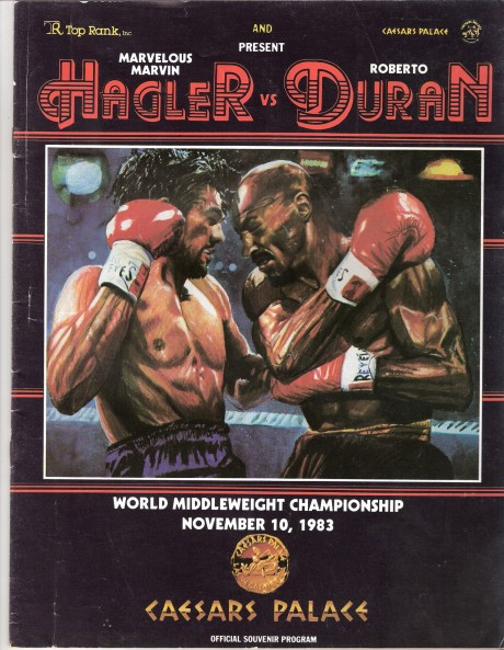 Hagler vs Duran program 001