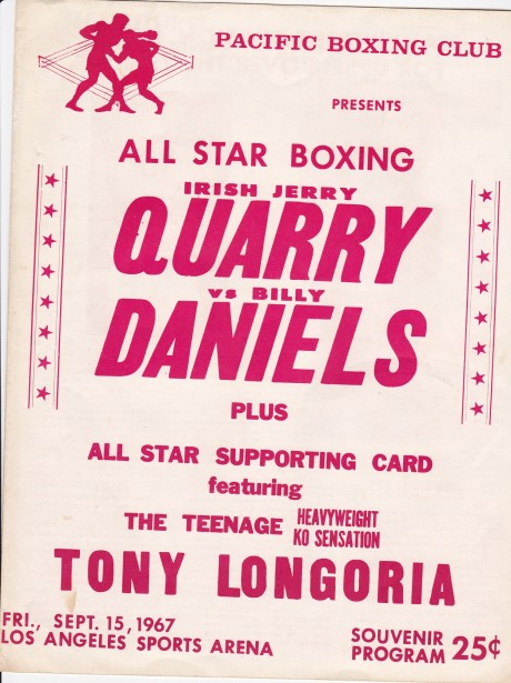 JERRY QUARRY VS DANIELS ON SITE PROGRAMME