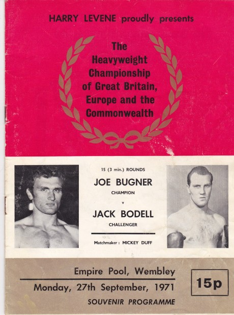 JOE BUGNER VS JACK BODEL