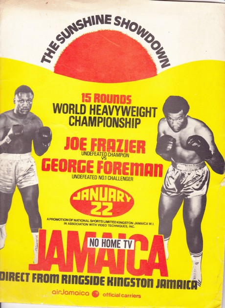 JOE FRAZIER VS GEORGE FORMAN PRESS KIT