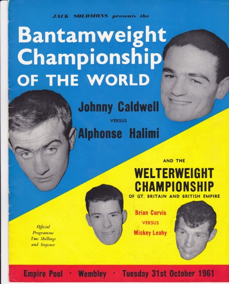 JOHNNY CALDWELL VS ALPHONSE HALIMI