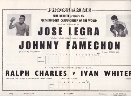 JOHNNY FAMECHON VS JOSE LEGRA PROGRAM CENTRE