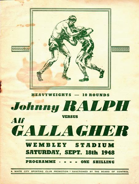 JOHNNY RALPH VS ALF GALLAGHER