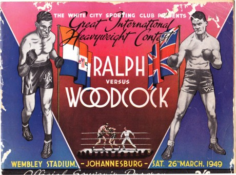 JOHNNY RALPH VS BRUCE WOODCOCK 26-3-1949