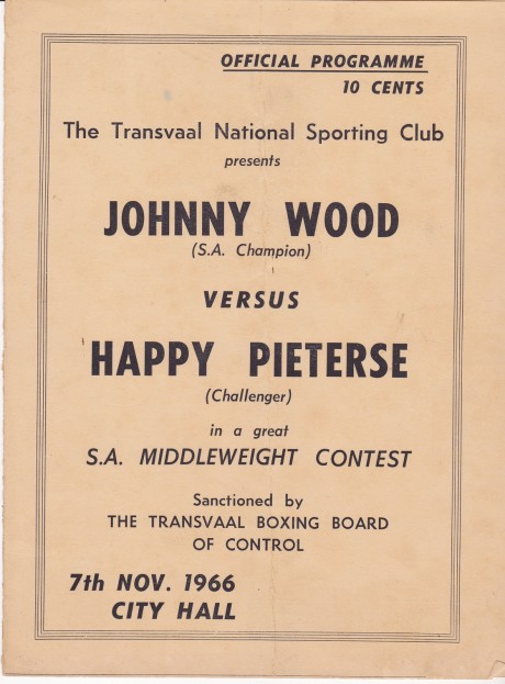JOHNNY WOOD V HAPPY PIETERSE