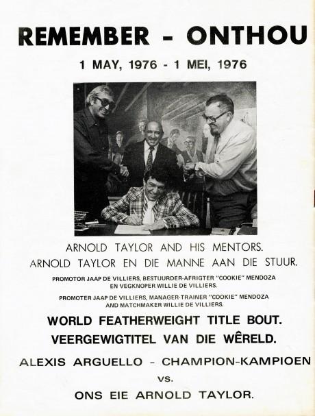Jaap de Villiers, Cokie Mendoza, Willie de Villiers and Arnold Taylor