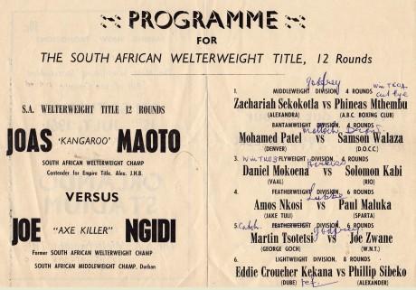 Joe Ngidi vs Joas Maota