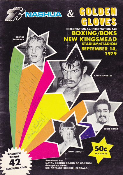 KALLIE KNOETZE VS GEORGE BUTZBACH & JIMMY ABBOTT VS EDDIE LOPEZ 14-9-1979