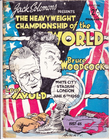 LEE SAVOLD VS BRUCE WOODCOCK 6-6-1950