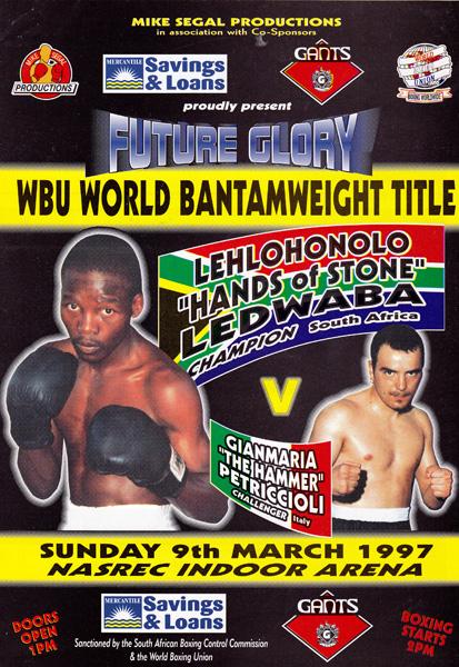 LEHLOHONOLO LEDWABA VS CIANMARIA PETRICCIOLI 9-3-1997
