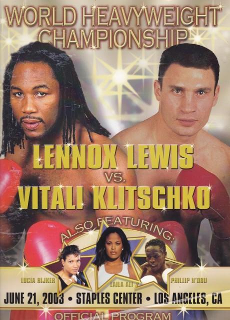 LENNOX LEWIS VS VITALI KLITSCHKO