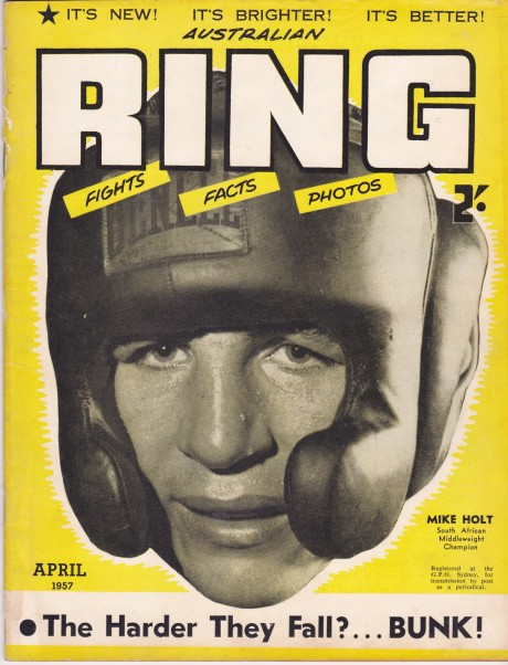 MIKE HOLT FRON COVER RING AUSTRALIA 1957